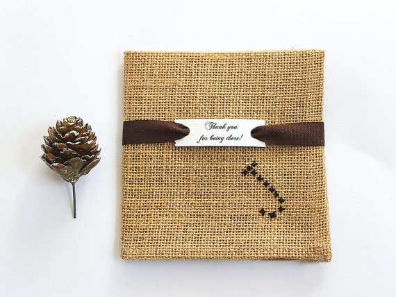 burlap groomsmen pocket square