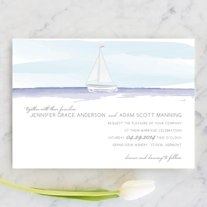 Sailboat Wedding Invitations: 25 Nautical Wedding Invitations That Look Beautiful