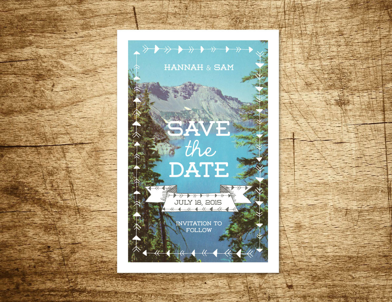 mountain save the date by WillowandSass