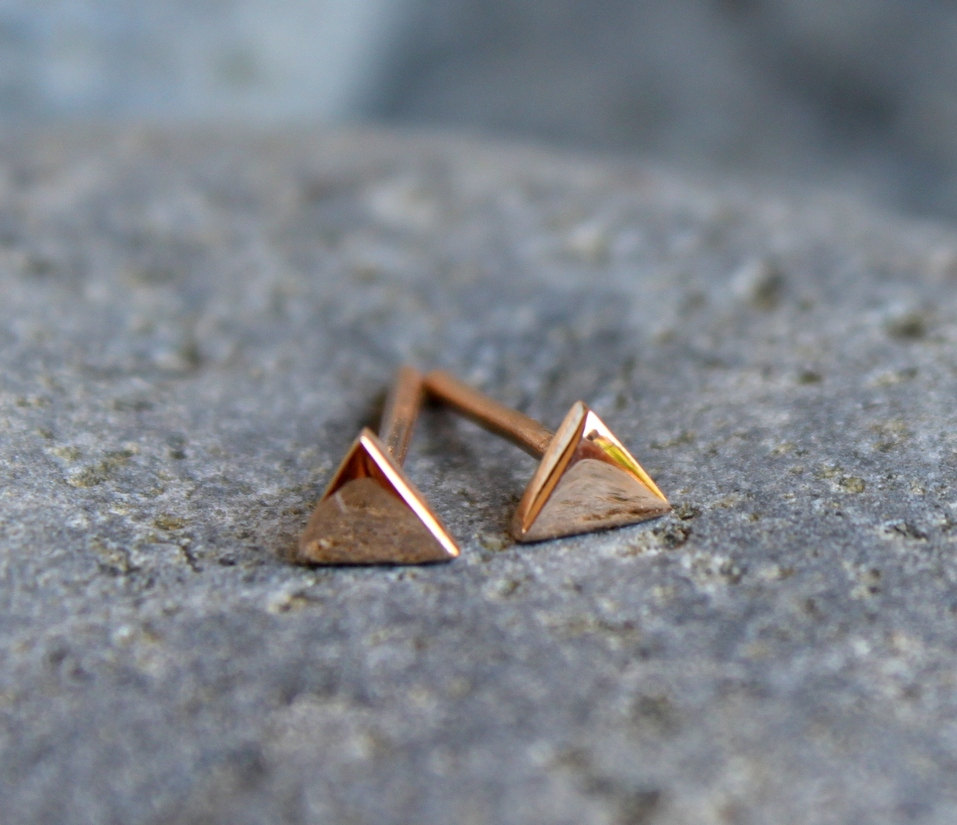 sold gold geometric earrings