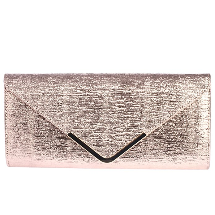 rose gold wedding ideas | envelope clutch purse