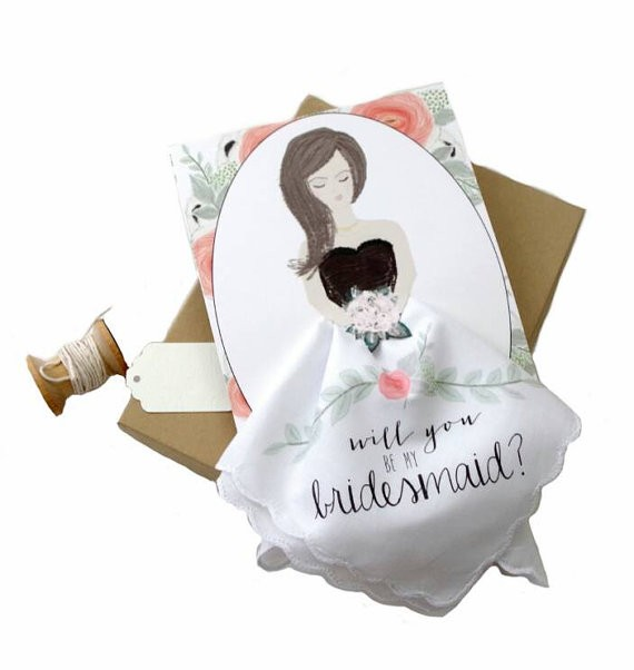 wedding hankies and personalized wedding handkerchiefs