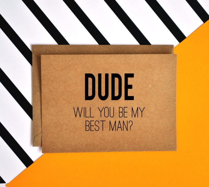 dude card | Funny Groomsmen Cards He'll Actually Want to