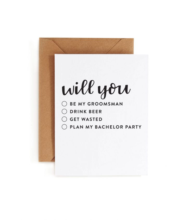 will you... | Funny Groomsmen Cards He'll Actually Want to