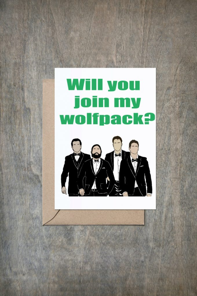 wolfpack card | Funny Groomsmen Cards He'll Actually Want to