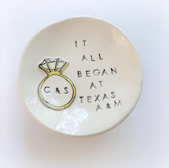 it all began at texas a m ring dish