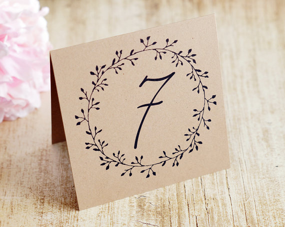 rustic table numbers by decocards | barn reception ideas for weddings via https://emmalinebride.com/reception/barn-ideas-weddings/ ‎