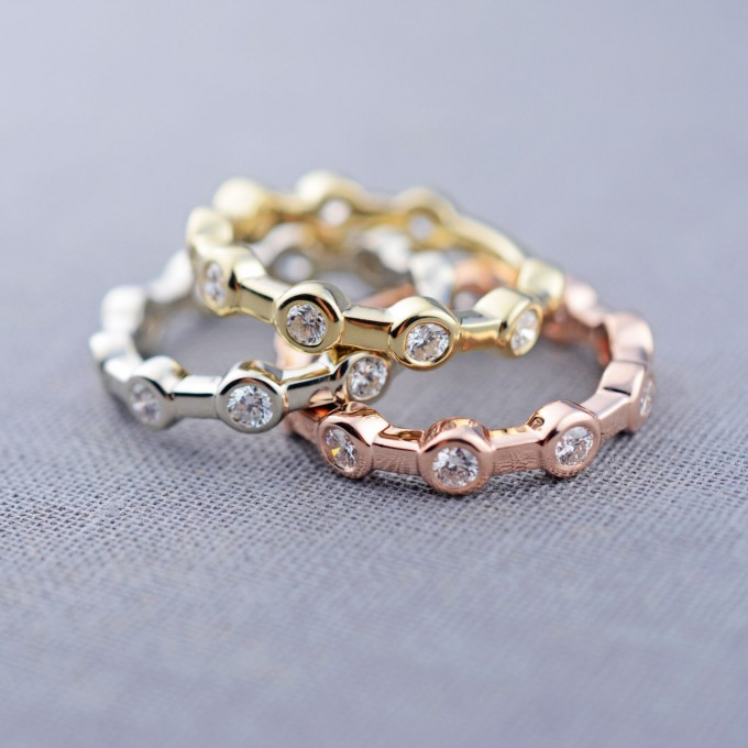 14k diamond constellation rings