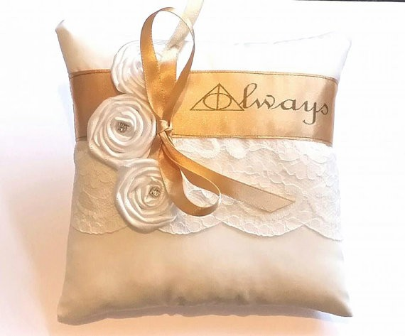 always harry potter wedding ring pillow