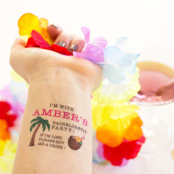 bachelorette party tattoos | How to Plan the Best Beach Bachelorette Party | http://emmalinebride.com/how-to/plan-beach-bachelorette-party