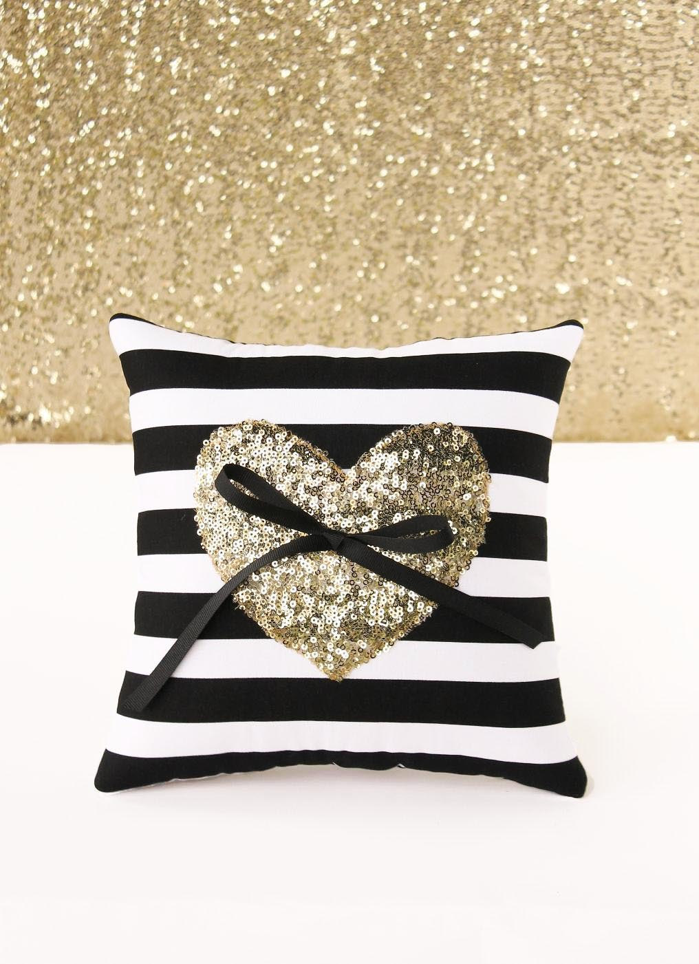 bling wedding ring pillow by stitchesandsnow