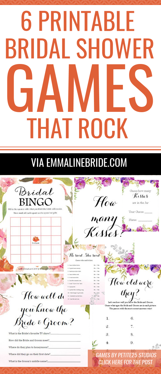 bridal shower games printable