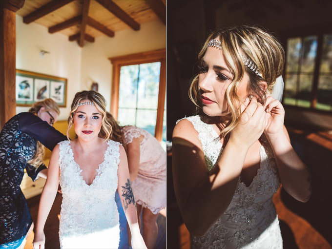 bridegettingready Bohemian Colorado Wedding with pink, gold, and blue | http://www.emmalinebride.com/real-weddings/bohemian-wedding-full-of-love-in-colorado/ | photo: Shutterfreek