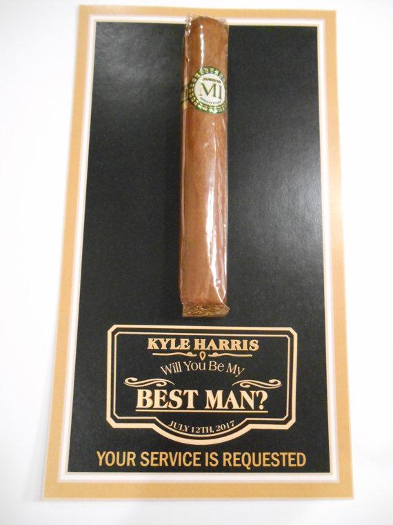 cigar be my groomsman i do artsy weddings