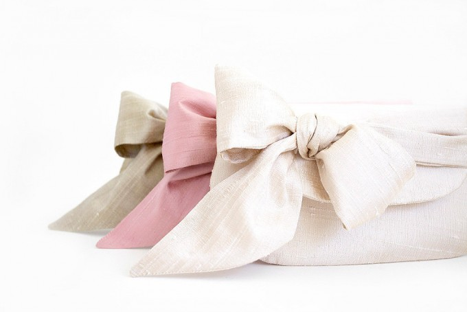 clutches in pink ivory gold