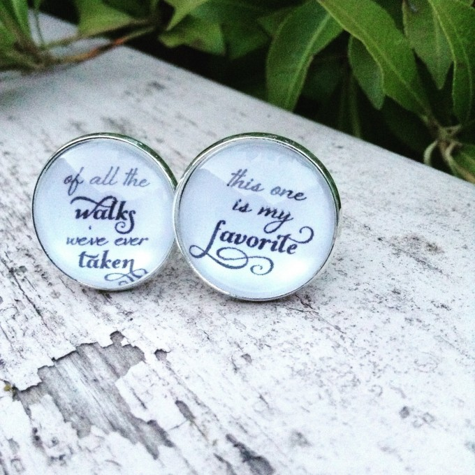 Of All The Walks We've Ever Taken, This One is My Favorite Cuff Links for Father of the Bride | by Over The Moon Bridal | http://emmalinebride.com/gifts/of-all-the-walks-cufflinks-dad/