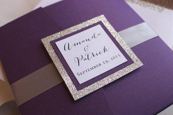 glittery invitations