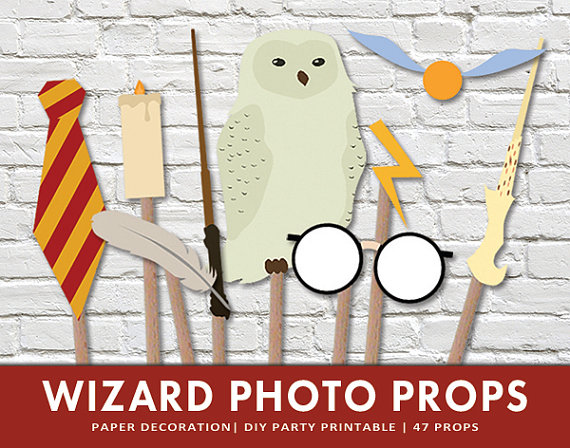 harry potter wedding photo booth props