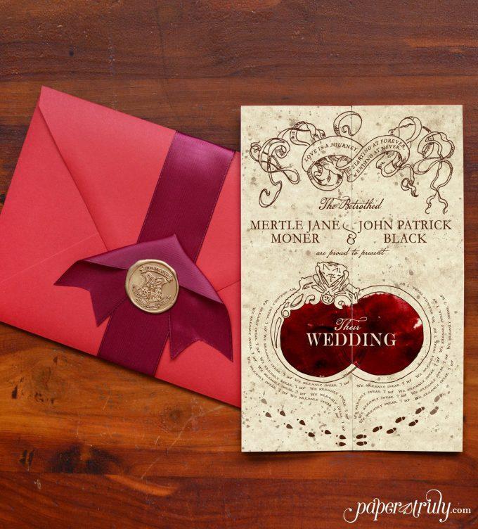 romance managed Harry Potter wedding invitations