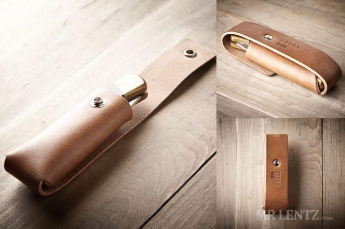 leather pocket knife sheath