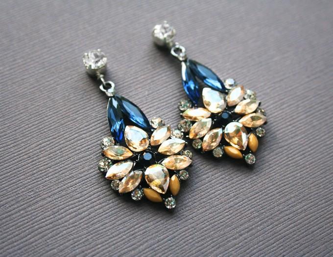 luxe blue earrings