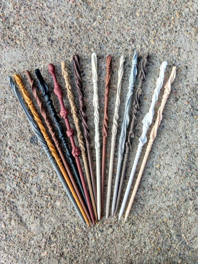 harry potter themed wedding wands