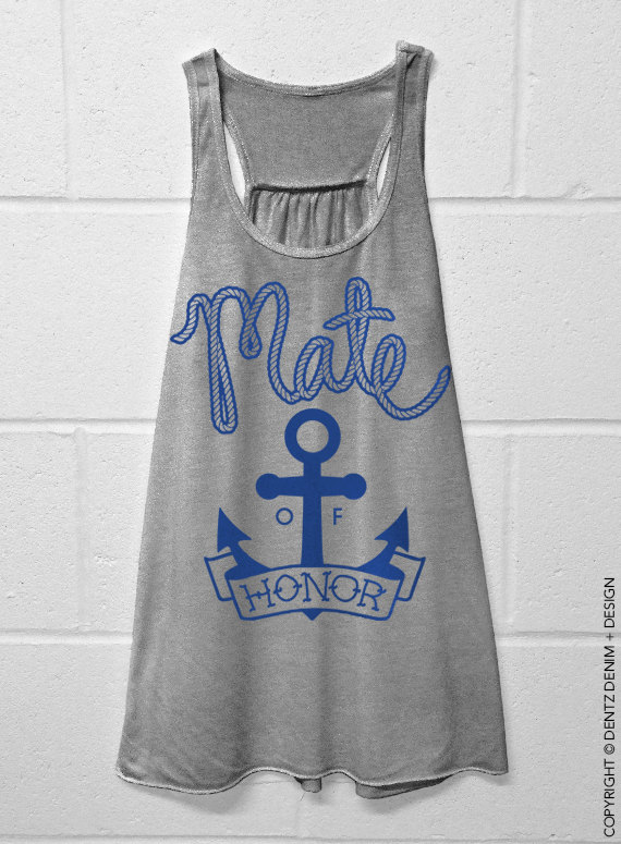 mate of honor tank top | How to Plan the Best Beach Bachelorette Party | http://emmalinebride.com/how-to/plan-beach-bachelorette-party