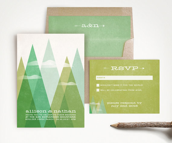 mountain wedding invitations