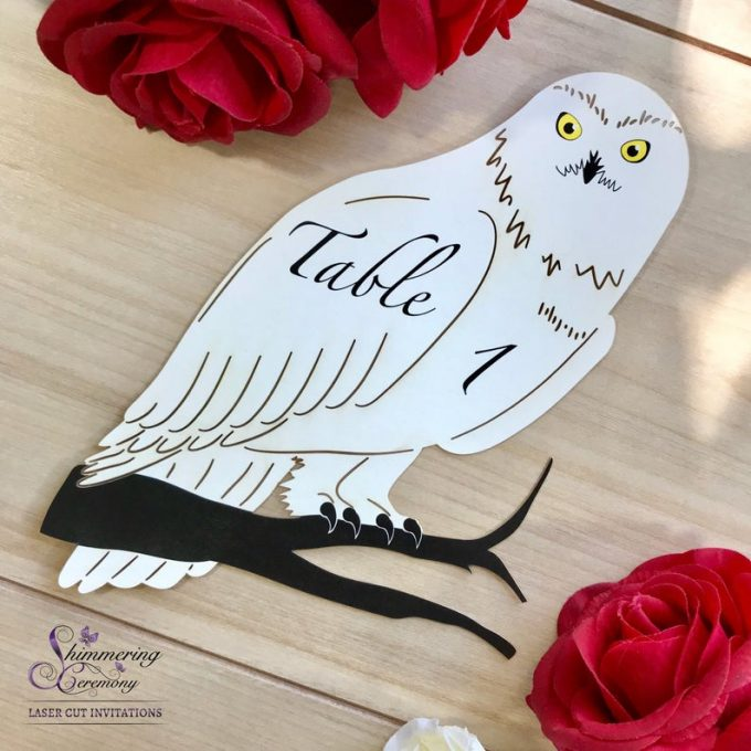 harry potter owl table numbers