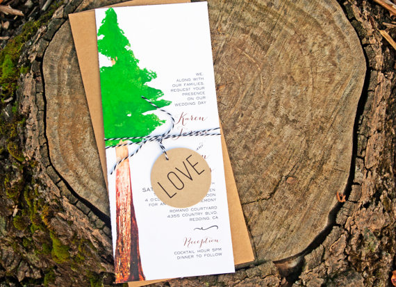 redwood tree wedding invitation by mavora - 50+ Best Wedding Invitations // via http://bit.ly/2yB6Ful