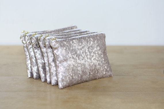 sequin bridesmaid clutches by almquistdesignstudio