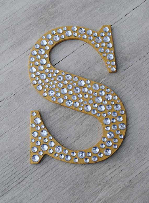 sparkly monogram