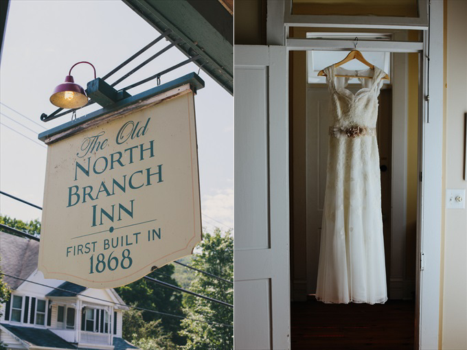the old north branch inn - Rustic Barn Wedding in the Catskill Mountains | https://emmalinebride.com/real-weddings/rustic-barn-wedding-catskill-mountains/ | photo: Stephanie Naru Photography