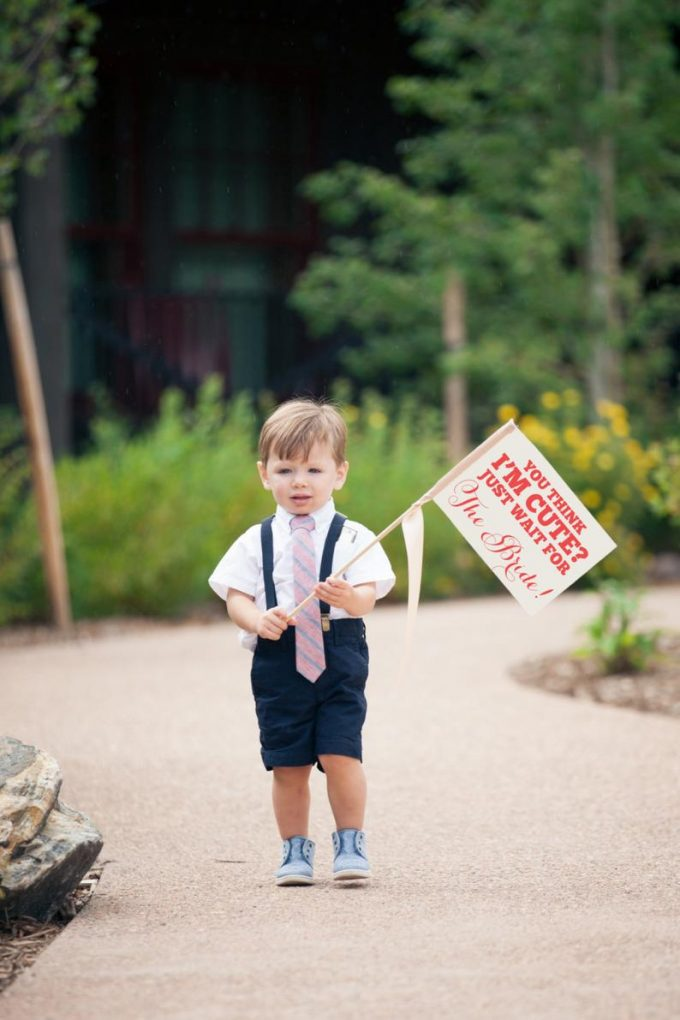 signs for flower girl ring bearer to carry