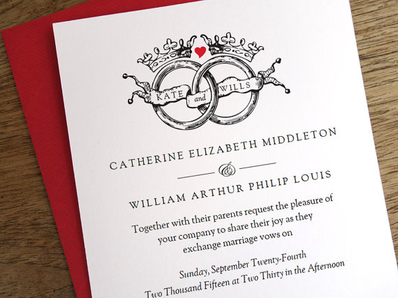 vintage royal wedding invitations