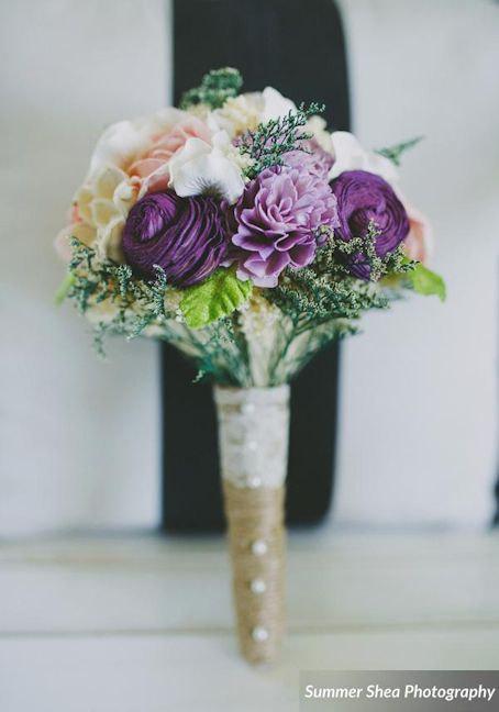 10 - alternative wedding bouquets - purple bouquet by curiousfloral