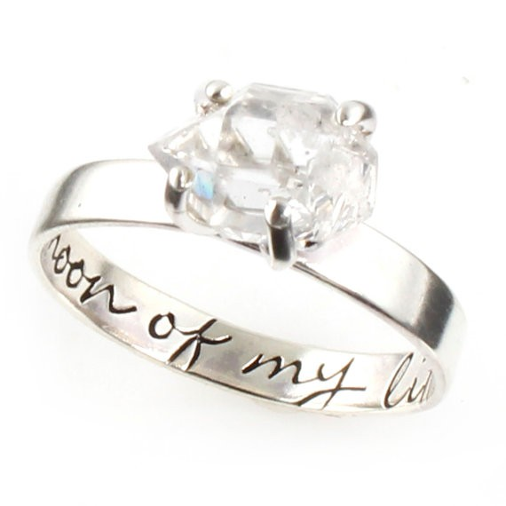 engraved engagement ring by spiffing jewelry
