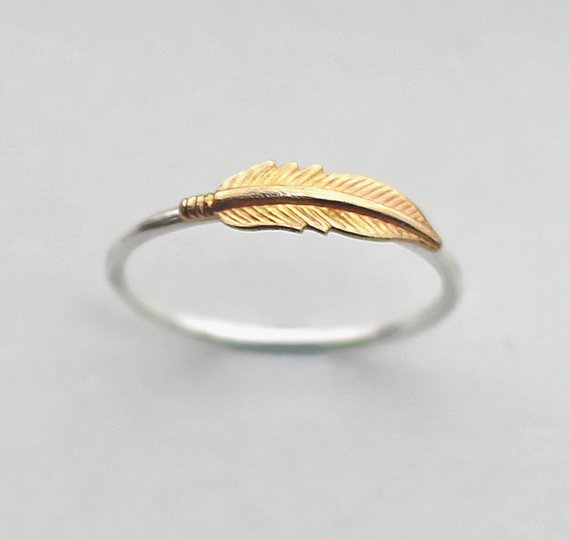 feather ring for her by zhivanadesigns | 75 Best Valentine's Gifts They'll Actually Want | http://emmalinebride.com/gifts/unique-valentines-day-gifts/