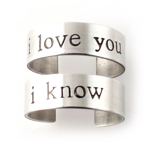 i love you i know rings | 75 Best Valentine's Gifts They'll Actually Want | http://emmalinebride.com/gifts/unique-valentines-day-gifts/