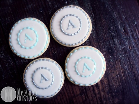 initial sugar cookies by megcobbcreations