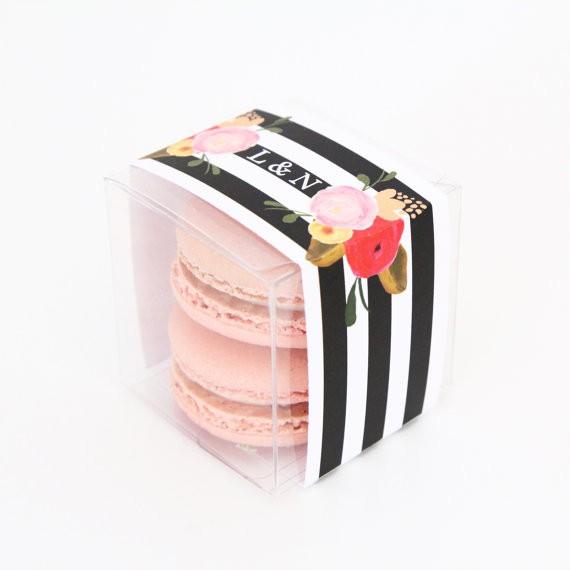 macaron favor box