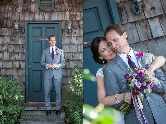 magnolia plantation wedding couple embracing Whimsical Charleston Wedding | http://www.emmalinebride.com/real-weddings/whimsical-charleston-wedding-with-pretty-purple-colors | photo: MCG Photography - South Carolina Wedding Photographer