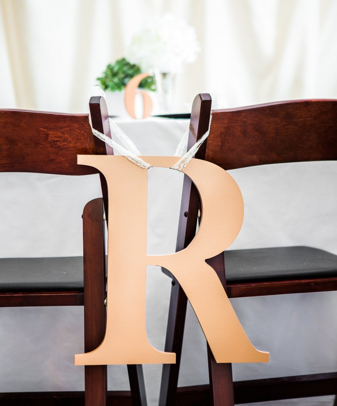 monogram | chair signs for bride and groom | by zcreate design | https://emmalinebride.com/reception/chair-signs-for-bride-and-groom/