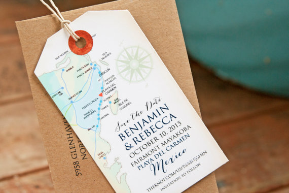 save the date magnet tag by mavora | travel themed wedding ideas: http://emmalinebride.com/themes/travel-theme-wedding-ideas/