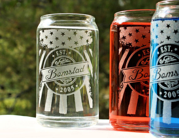 soda or beer drinking glasses
