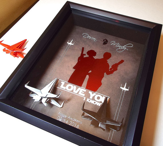 star wars i love you art | 75 Best Valentine's Gifts They'll Actually Want | http://emmalinebride.com/gifts/unique-valentines-day-gifts/