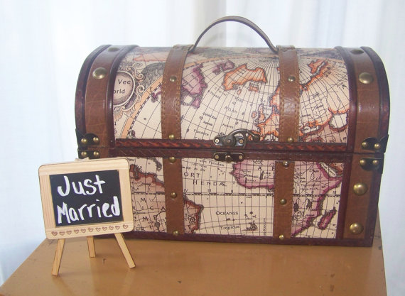 vintage map card box by sugarplumcottage