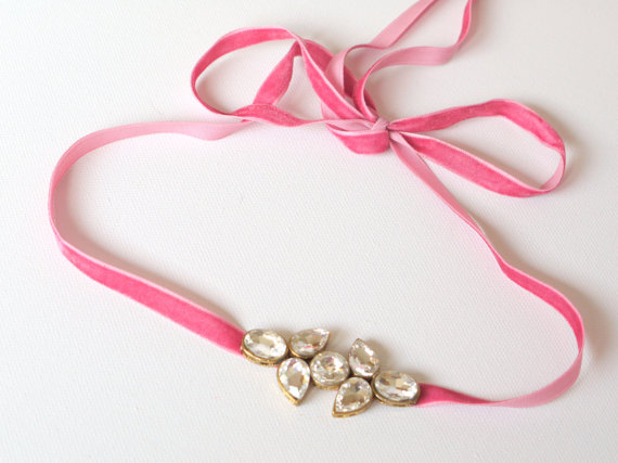 vintage pink headband or sash | 75 Best Valentine's Gifts They'll Actually Want | http://emmalinebride.com/gifts/unique-valentines-day-gifts/