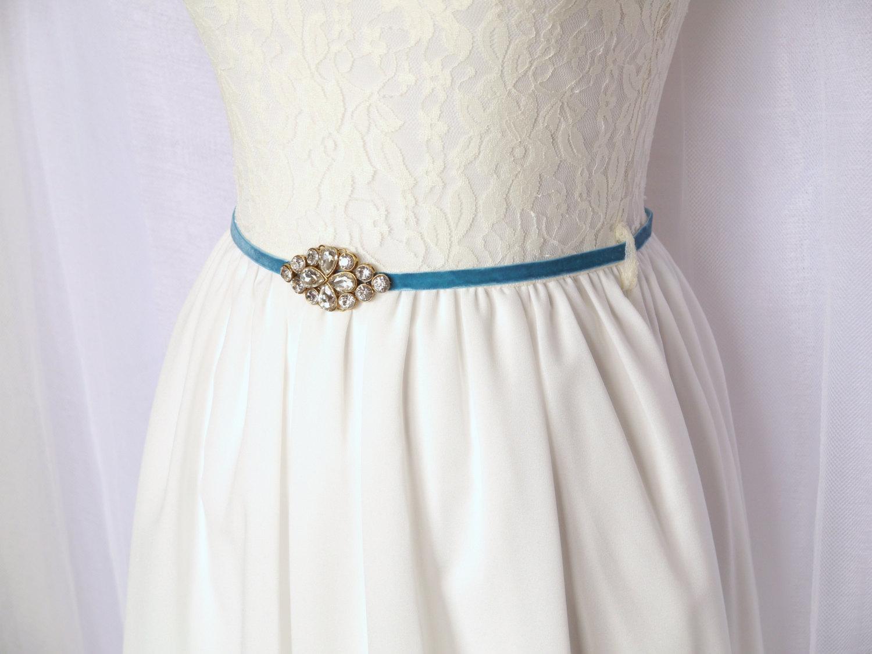 blue dress sash