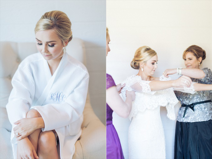 bride getting ready for wedding | A Beautiful Sainte Terre Louisiana Wedding(Real Weddings) | http://www.emmalinebride.com/real-weddings/a-beautiful-sainte-terre-wedding-in-louisiana-real-weddings/ | Photo:  Photography by Micahla Wilson
